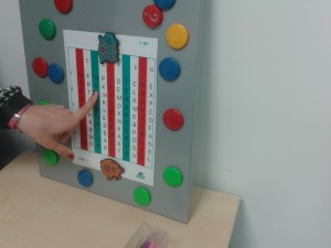 Mora Óptico- Cartas de Hart con barra de lectura